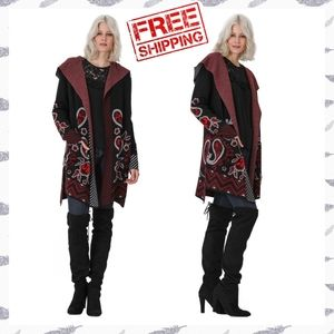 FREE Shipping! Vertigo Paris Paisley Sweater Coat